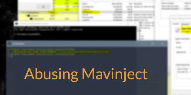 From False Positive to True Positive: the story of Mavinject.exe, the Microsoft Injector
