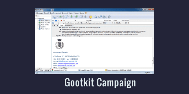Gootkit Campaign Targeting Italian Government Institutions